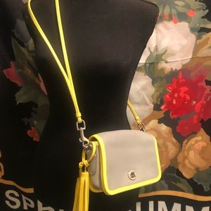 Yellow and Grey Coach Bag